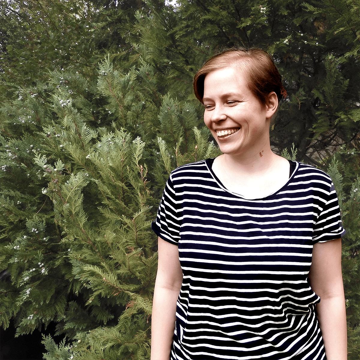 Portrait der Künstlerin Eliza Roth auf Kombinat Lump